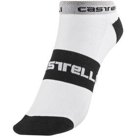 Castelli Lowboy Miehet sukat , valkoinen/musta